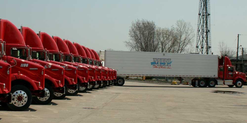 Mr Bults Inc Row of Trucks